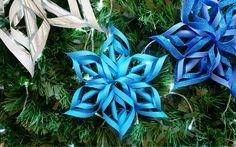 Como fazer uma estrela twist ou flor de papel para o natal