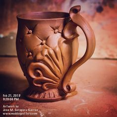 Another teacup :) #instaart #teacups #instalike #instadaily #inspiration #clay…