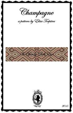 Bead Loom Pattern Seed Bead Loom Patterns Loom Bracelet Tutorial Elegant Classic Pattern Retro Pattern Funky Pattern CHAMPAGNE Pattern