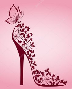 Download royalty-free High heel shoes from beautiful butterflies. Vector stock vector 7196104 from Depositphotos collection of millions of premium high-resolution stock photos, vector images and illustrations. Butterfly Wallpaper, Butterfly Art, Art Papillon, Shoe Tattoos, High Heels, Shoes Heels, Silhouette Art, Motif Floral, Shoe Art