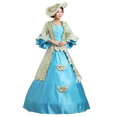 Partiss Lolita Court Dress Cosplay Costume,Small,blue