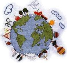 Just Cross Stitch Patterns | All around the world *after* This is adorable!