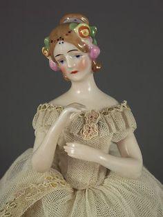 Antique German Goebel Half Doll Fanny Elssler Ballerina Lady w Legs Figurine | eBay