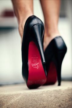 Louboutin red soles. Shoes. High. Heels. Accessories. Fashion.