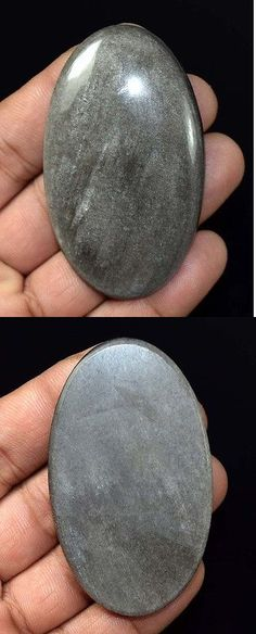 Obsidian 110803: Healing King 130.65 Cts. 100 % Natural Huge Silver Obsidian Loose Gemstones -> BUY IT NOW ONLY: $42 on eBay!