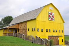 What's up with these yellow barns?