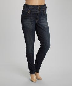 Look what I found on #zulily! Dark Stain High-Waist Jeans - Plus by Eunina #zulilyfinds