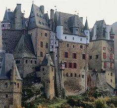 Eltz Castle (Burg Eltz) is a medieval castle in the hills above the Moselle River between Koblenz and Trier, GERMANY - www.castlesandmanorhouses.com