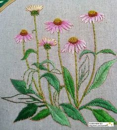 Have Fun with Silk-Ribbon Embroidery - Embroidery Patterns Cushion Embroidery, Embroidery Stitches Tutorial, Hand Work Embroidery, Embroidery Flowers Pattern, Crewel Embroidery, Hand Embroidery Designs, Vintage Embroidery, Ribbon Embroidery, Cross Stitch Embroidery