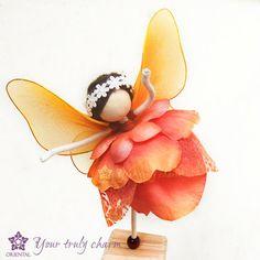 Orange Fairy Doll Orange Rose Princess Doll by OrientalColour, $11.00