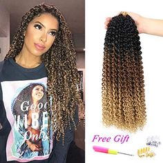 Amazing offer on Passion Twist Hair Ombre Crochet Braids Water Wave Crochet Braids Crochet Passion Twist Braiding Hair (Black Brown/Light Brown) online - Alllovelyclothing - Twist hairstyles - Amigurumi , Crochet , Knitting Box Braids Hairstyles, Twist Hairstyles, Black Women Hairstyles, Hairstyles Videos, Hairstyles 2018, Brown Hair Shades, Brown Hair With Blonde Highlights, Brown Hair Colors, Wig Styles