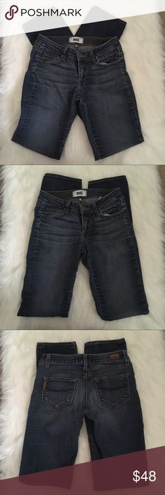 Paige Skyline Straight Jeans Size 25 Paige Denim Style Skyline Straight  Jeans Size 25 Good gently used condition overall! Factory faded style. PAIGE Jeans Straight Leg