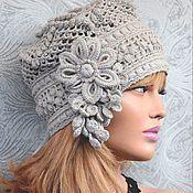 Шапочка-ушанка – купить в интернет-магазине на Ярмарке Мастеров с доставкой - 6X60LRU | Кривой Рог Crochet Headband Pattern, Crochet Cap, Crochet Beanie, Crochet Patterns, Baby Hats Knitting, Knitting Yarn, Knitted Hats, Sombrero A Crochet, Crochet Hair Accessories