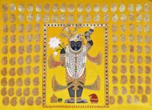Shrinathj 2 traditional art by Pichwai Art | ArtZolo.com