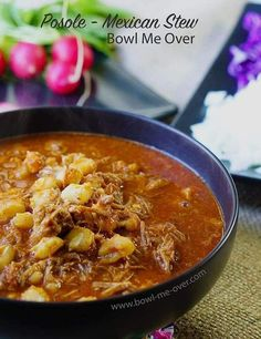 Authentic Posole - This recipe for posole is truly perfection in a spoon. Cooking it slowly renders a deliciously savory and flavorful stew. Check this recipe out!