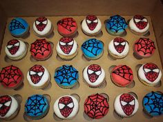 Spiderman Theme Cupcake | Spiderman and spider webs | Flickr