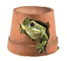 Ornamental Frog Flower Pot: Amazon.co.uk: Garden & Outdoors