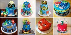 Torte dei Super Pigiamini in pasta di zucchero per il compleanno dei bambini