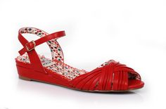 Bettie Page Shoes - Summer Red Sandal