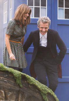 12 and Clara (Peter Capaldi & Jenna Coleman) #DoctorWho