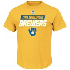 Find the  Men's Milwaukee Brewers Tee - Yellow Gold by  at Mills Fleet Farm.  Mills has low prices and great selection on all Men's Sports Apparel.