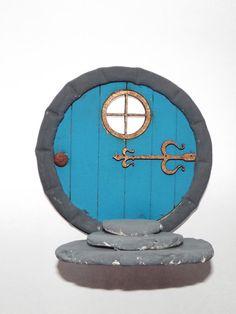 hobbit door fairy door blue fairy door by magikallittlethings