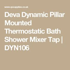 Eco Thermostatic Bath Shower Mixer Tap O Performance To TMV2 Build Cert Standards Ceramic Disc Technology Water Saving Facility
