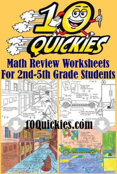 4 FREE Worksheets for 2nd - 5th grade students! There are 100 different worksheets in each series and what's best is the kids can color/decorate them afterwards to their liking :-) Click on the image above and  try them out right at home or in your classroom today -->