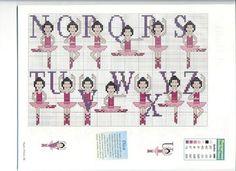 Schemi punto croce di alfabeti e iniziali | Alfabeto ballerina | Foto