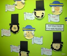Paper Plate Abraham Lincolm from Tippytoe Crafts