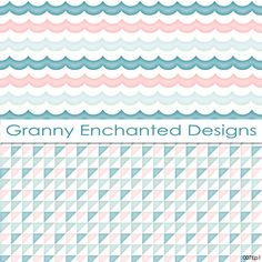 Soft Beach: 12 Digital Papers in Teal Blue by GrannyEnchanted