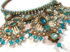 Princess Jasmine Beaded Necklace and Earring by ChristmasCreation