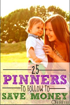 25 Pinners to follow to save money