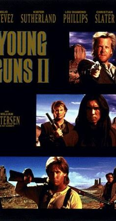 Rent Young Guns II starring Emilio Estevez and Kiefer Sutherland on DVD and Blu-ray. Get unlimited DVD Movies & TV Shows delivered to your door with no late fees, ever. 90s Movies, 2 Movie, Love Movie, Great Movies, Awesome Movies, Famous Movies, Movie List, Emilio Estevez, Young Guns