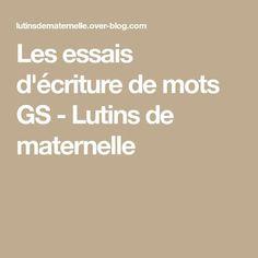 Grande Section, Ms Gs, Blog, Montessori, Proposition, Cursive Alphabet Letters, Blogging