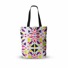 "Miranda Mol ""Summer Mood"" Yellow Purple Everything Tote Bag from KESS InHouse"