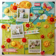 Like the Car: Scrapbook Layout - Buttons and Brads #Silhouette