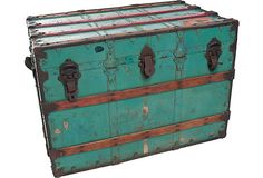 I keep scouring sites like One Kings Lane and hitting up flea markets to find interesting, colorful, vintage trunks. I love the character it adds to a room!