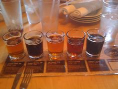 dogfish head beer sampler at their brew pub in Rehoboth Beach, DE