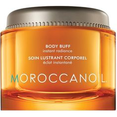Moroccanoil Fleur D'Oranger Body Buff 180ml ($46) ❤ liked on Polyvore featuring beauty products, bath & body products and body cleansers