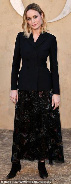 The uniform? Perhaps it's no surprise that Brie Larson and Demi Moore chose similar outfit...