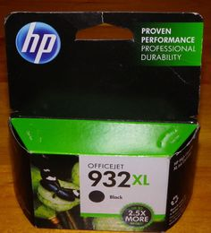 Genuine HP 932XL Black Printer Ink August 2014 OfficeJet 6100 6600 6700 UnOpened…