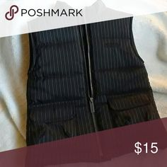 Kenneth Kole Vest Brand new black and whit pinstripe vest perfect condition never worn Kenneth Cole Jackets & Coats Vests