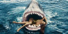 Rihanna Swimming with Sharks  - HarpersBAZAAR.com