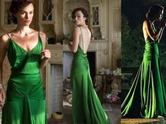 Keira Knightley Green Evening Dress Prom Gown Atonement-in Evening Dresses from Apparel & Accessories on Aliexpress.com | Alibaba Group