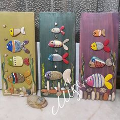 Pebble Painting, Pebble Art, Stone Painting, Pebble Stone, Stone Crafts, Rock Crafts, Arts And Crafts, Beach Crafts, Summer Crafts