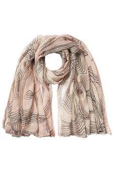 Faliero Sarti Faliero Sarti Schal aus Baumwolle und Seide – Rosa