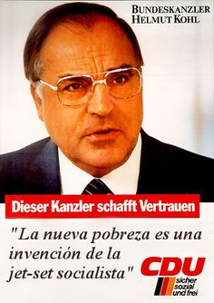 Helmut Kohl, Canciller de la RFA entre el 1 de octubre de 1982 y el 27 de octubre de 1998.  #ByMe
