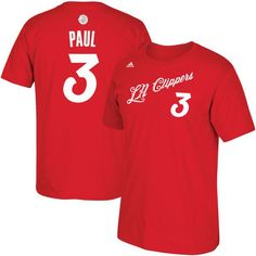96a1c599a08 Chris Paul LA Clippers adidas 2016 Christmas Day Name  amp  Number T-Shirt -