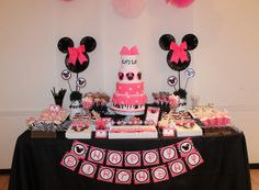 "Photo 1 of 33: Minnie Mouse / Birthday ""Pink + Zebra Minnie Mouse Party"" 